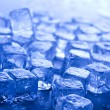 Blue and shiny ice cubes — Stock Photo #8841134