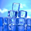 Background with ice cubes — Lizenzfreies Foto