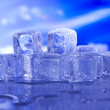 Blue and shiny ice cubes — Stock Photo #8842196