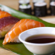 Asia and food on sushi — Stock Photo