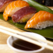 Traditional japanese food, Sushi - Stock Photo