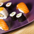 Traditional japanese food, Sushi — Stok fotoğraf