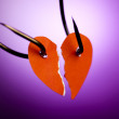 Heart on hook — Stock Photo