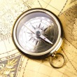 Old style compass — Stock Photo