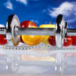 Food and measurement, fitness — Stock Photo #9916946