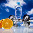 Food and measurement, fitness — Stock Photo #9916987