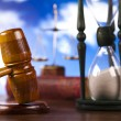 Law theme, mallet of judge, wooden gavel  — Stock Photo #9918922
