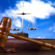 Justice concept in blue sky background — Stock Photo #9919028