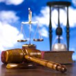 Justice concept in blue sky background — Stock Photo