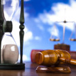 Justice concept in blue sky background — Stock Photo #9919393