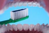 Teeth, Dental health care objects — Stock Photo
