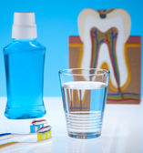 Dental health care objects — Stock Photo