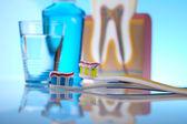Objetos de cuidado de la salud dentales — Foto de Stock