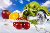 Healthy lifestyle concept, Diet and fitness — Stock Photo