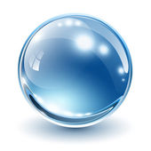 3D glass sphere — Vector de stock