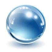 Sfera di vetro 3d — Vettoriale Stock