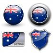Stock Vector: Australia icons