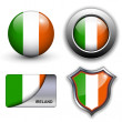 Stock Vector: Ireland icons