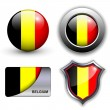 Stock Vector: Belgium icons