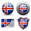 Iceland icons — Vector de stock