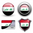 Stock Vector: Iraq icons
