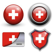 Swiss icons — Stock Vector