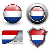 Holland icons — Stock Vector