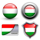 Hungary icons — Stock Vector