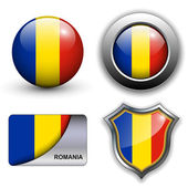 Romania icons — Stock Vector