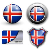 Iceland icons — Stock Vector