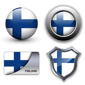 Finland icons — Stock Vector