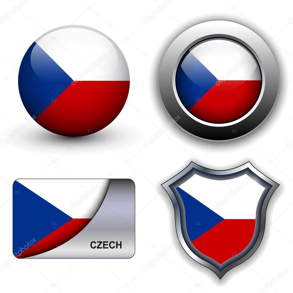 捷克共和国国旗图标主题