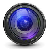 Photo lens — Vector de stock