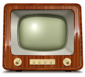 Old tv — Stock Vector