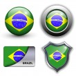 Brazil icons — Stock Vector #9644592