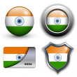 India icons — Stock Vector #9644742