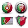 Stock Vector: Portugal icons