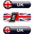 United Kingdom icons — Stock Vector