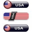Usa icons — Stock Vector #9644900