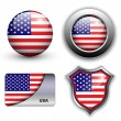 Usa icons — Stock Vector #9644987