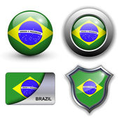 Brazil icons — Stock Vector