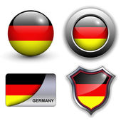 German icons — Stock Vector