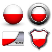 Poland icons — Stock Vector