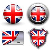 Icônes de uk — Vecteur