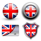 Uk icons — Stock Vector