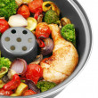 Roasted chicken with vegetables — ストック写真