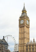 The tower that houses big ben — Stock Photo