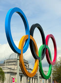 The 2012 olympic rings — Stock Photo