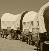 Wagon train — Stock Photo