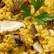Risotto with saffron and mushrooms — Stock Photo #10195404